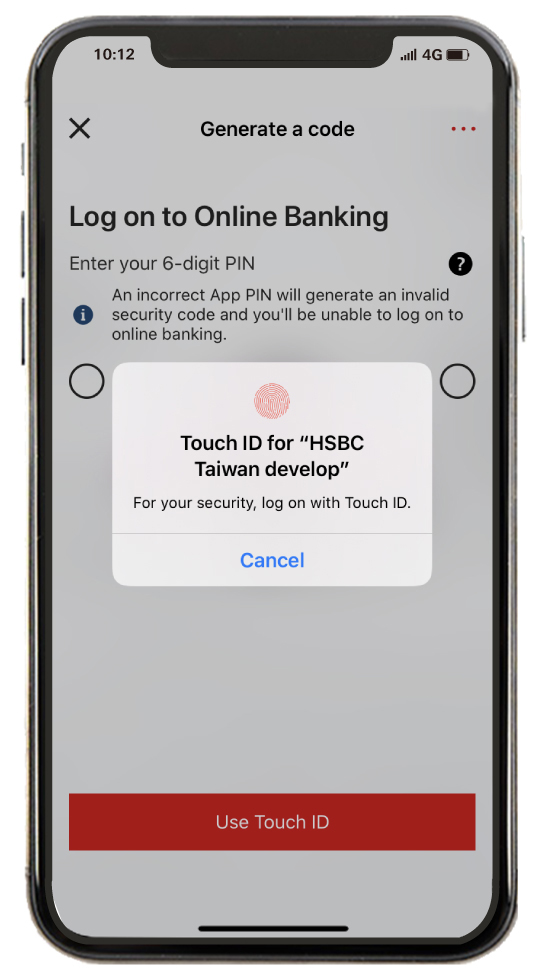 Log on with Touch ID